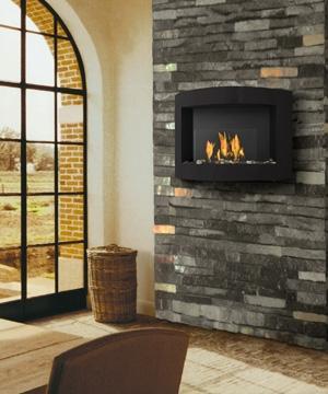 Foyer Laguna noir   Dim:36.50 po long x 23.25 haut x 9 po profond avec brûleur de 1.1 L.Prix:$799