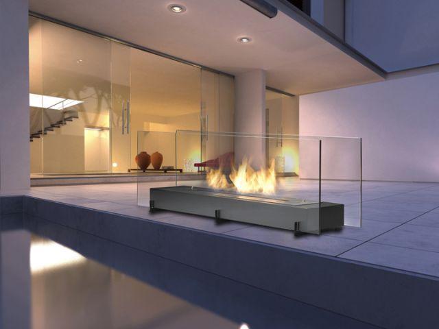 Foyer Vision 2  Dim:38.25 po long x 10.25 po profond x 16.75 po haut.Disponible en noir ou stainless avec bruleur de 2.3 L.Prix:$1345