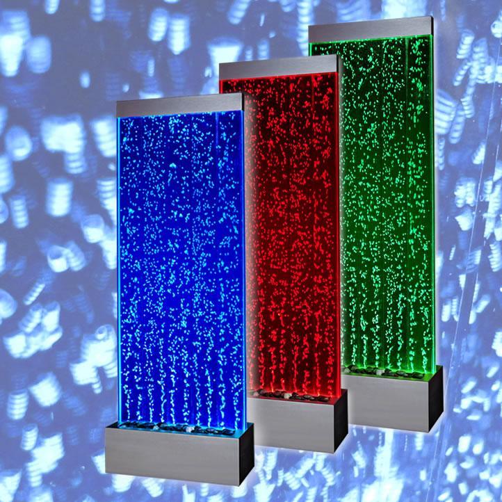 Mur d eau a bulle (Stainless)   Dim:23.75 po large x 79 po haut x 11 po de profond,vient avec télécommande pour ajuster les couleurs  et 6 jets.Prix:$1395