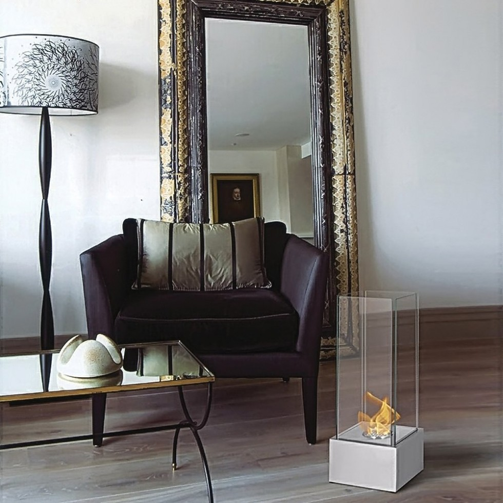 Foyer Michelle   Dim:9.75 po large x 9.75 po profond x 25.50 po haut en stainless.Prix:$299