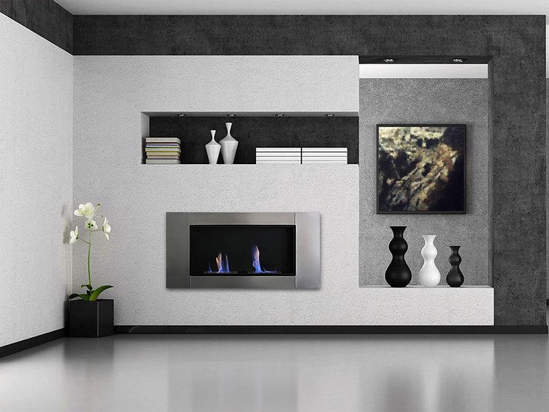 Foyer Insert 2 bruleurs    Dim:43 1/4 po long x 21 1/4 po de haut x 6 po profond noir et stainless.$699