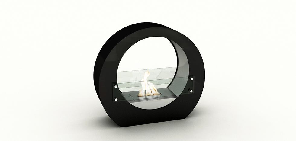 Foyer de sol cercle noir  Dim:18 po large x 22 po long x 10 po profond avec brûleur de 1.5 l de couleur noir.Prix $299