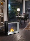 Foyer Évolution    Dim:30 po large x 26 po haut x 11.3 po profond couleur noir et stainless.Prix:$799